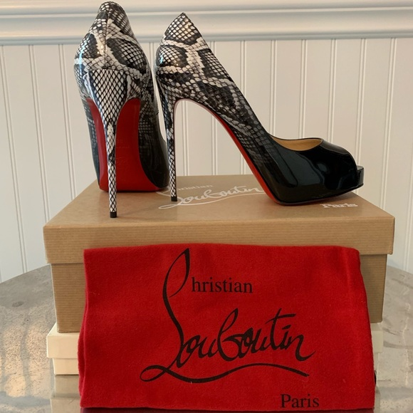 size 40 53455 68745 Christian Louboutin New Very Prive 120mm Size 38